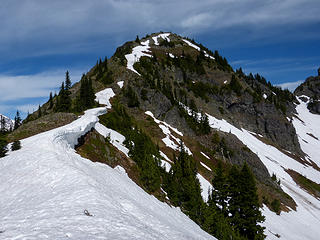 Looking back at Barrier's south east ridge