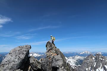 Dustin on the summit