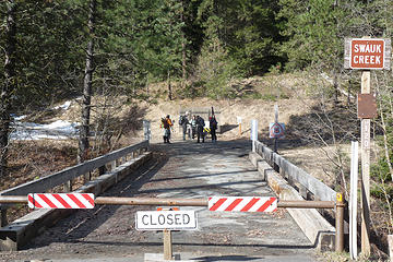 Gate is still closed at Swauk Creek