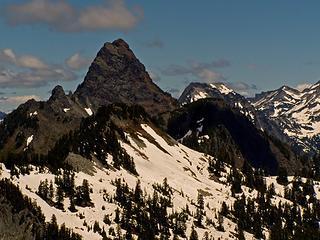 Thomson Peak looms over its neighbors