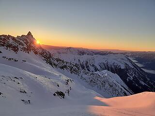 Sunrise below Clark