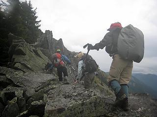 Carefull, the wet rocks are slick!