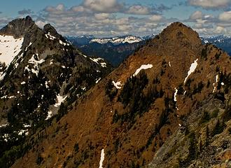 Red Mountain and Lundin Peak