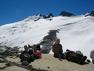 Taking a break on the south flank of Whatcom Peak