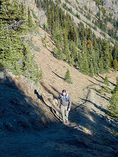 Last section of trail to Marmot Pass