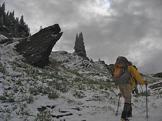 Nikolai in snow