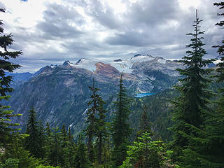 (Cell phone photos from now on) - Looking back at Green Lake and Bacon Peak
