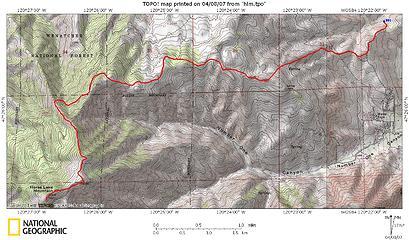 Twin Peaks NNE route
