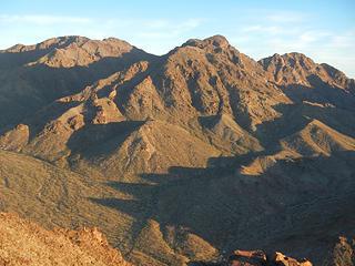 Hamblin Mountain and west peak