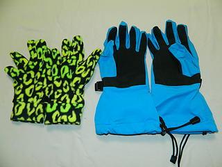 Gloves I use for spring snowboarding