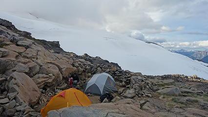 Camp near the hut