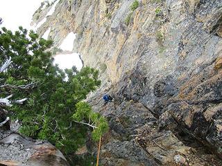 Jake nearing the ridge crest