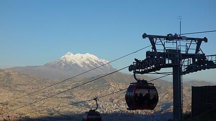 Illimani from El Alto
