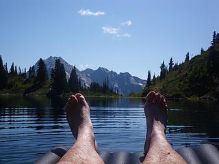 floating on Hart Lake