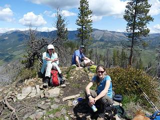 Lunch break on the summit