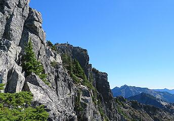 Spotted another climber on the distant, true summit.  Once you make the ridge crest, it's a carry to the top.