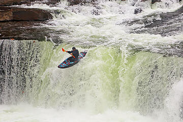 13- Kayaker at Ohiopyle Falls