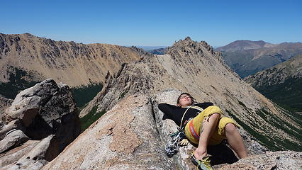 Relaxing on the summit of El Abuelo