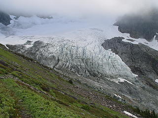 Lower Curtis Glacier viewed from the west in August 2007