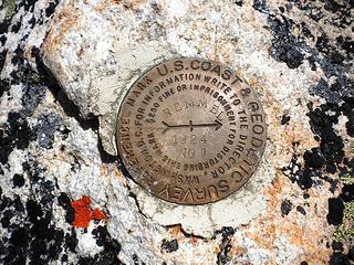 Remmel Summit Bench Mark