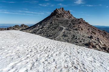 lassen summit beyond the snowfield