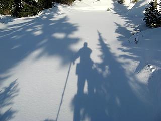 My Shadow on Tarn by Long Lake