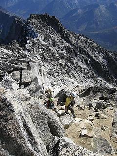 Climbing the last little bit