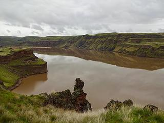 The mouth of the Palouse River is now a lake.