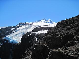 El Glaciar Castaño Overo and the summit of El Tronador