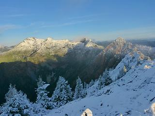 Morning light on Snoqualmie - Red