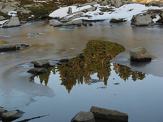 Reflection on an open lead in Flowing Tarn