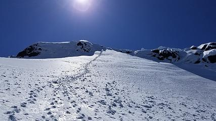 Looking up the final headwall