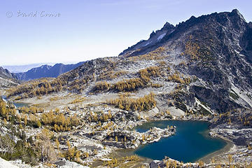 larches above crystal lake