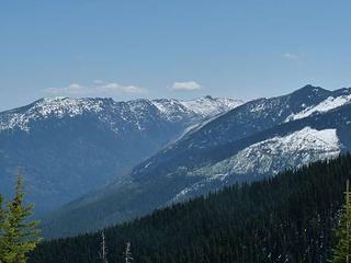 Icicle Ridge in distance - pointy-bump on the right is where we were a few weeks ago