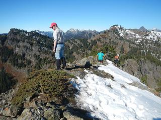 SE Rampart summit
