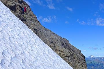 Descending the NNW ridge