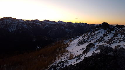 Sunrise over Switchback, Martin, Cheops, Bigelow