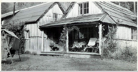 Smith Place - Queets Valley - ca. 1929 - view of southwest corner of Smith addition - photo courtesy L. Vaughan