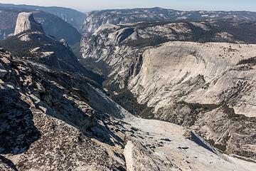 tenaya canyon to half dome