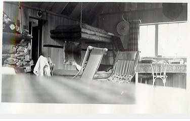 Smith Place - Queets Valley - ca. 1929 - view of northeast corner interior of Smith addition - photo courtesy L. Vaughan