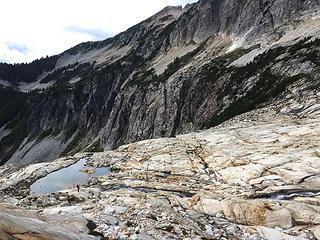 The slabs around Upper Blum Lakes