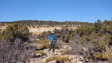 Elaine on the summit plateau