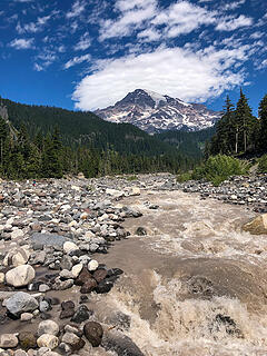 Mount Rainer and Nisqually River from Wonderland Trail