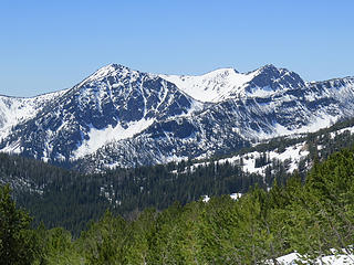 Sunrise Mountain 8002' surrounds Sunrise Lake.