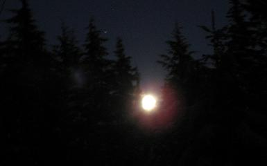 Blurry Moonrise Photo