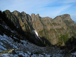 Looking back at the steep east wall of Persis