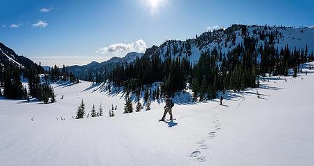 Meadow just below Marmot Pass