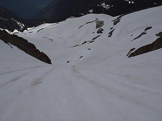 steepish descent