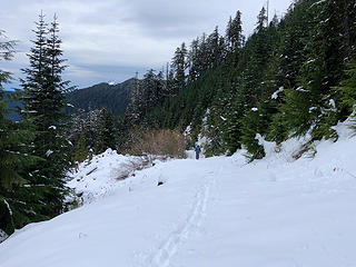 Heading back down the trail to Mt.Stickney 11/25/18