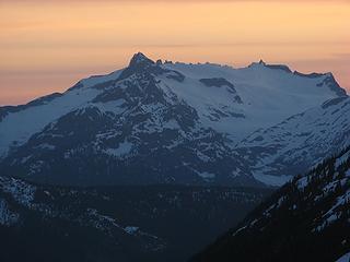 Snowfield sunset